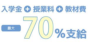 最大70%支給